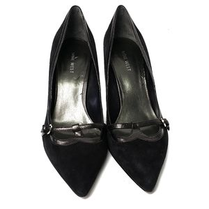 Nine West Suede Pointy Toe Heels Size 9M